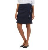 Nautica Faux Wrap Zippered Moto Skirt
