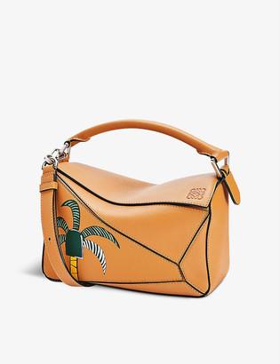 Loewe La Palme Puzzle small leather shoulder bag