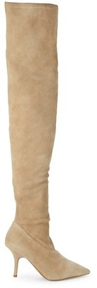 Yeezy Suede Over-The-Knee Boots