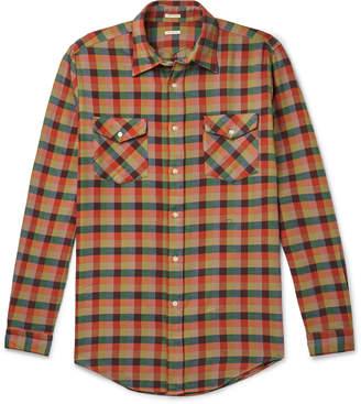 Massimo Alba Checked Cotton-Flannel Shirt