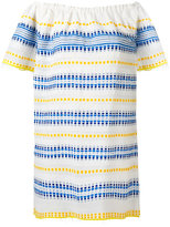 Lemlem striped off-shoulder dress - women - Cotton/Acrylic - L