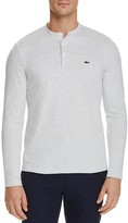 Lacoste Textured Spotted Long Sleeve Henley Tee