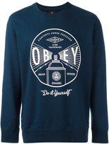Obey logo print sweatshirt