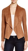 Alison Andrews Draped Faux Suede Jacket