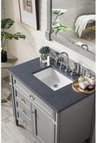 "Deleon 36"" Single Bathroom Vanity Set Darby Home Co Base Finish: Urban Gray, Top Finish: Charcoal Soapstone / Rectangular Top"