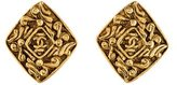 Chanel CC Clip On Earrings