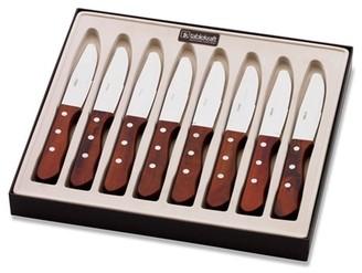 Tablekraft Steak Knife Pakkawood Round Tip Set of 8