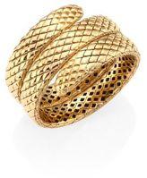John Hardy Cobra 18K Yellow Gold Triple Coil Bracelet