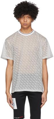 Burberry Off-White Devore Monogram Oversized T-Shirt