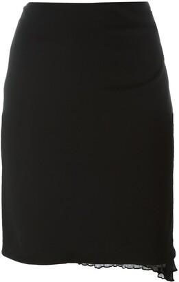 Romeo Gigli Pre-Owned Ruffled Hem Skirt