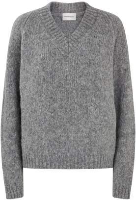 Mansur Gavriel V-Neck Chunky Knit Sweater