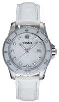 Wenger Women's 70381 Sport White Dial Leather Watch