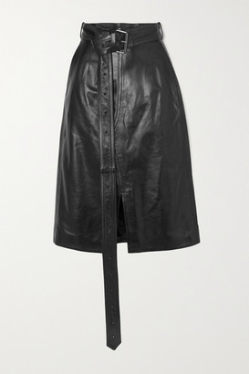 Marni Belted Leather Skirt - Black