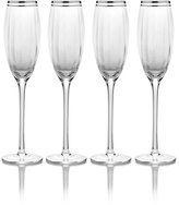 Mikasa Haley Platinum Set of 4 Flute Glasses