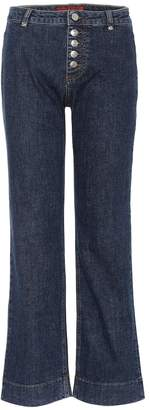 ALEXACHUNG Flared cropped jeans
