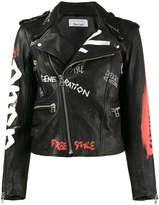 Faith Connexion hand painted biker jacket