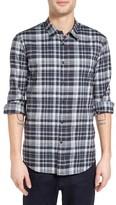 John Varvatos Men's Mayfield Slim Fit Plaid Sport Shirt