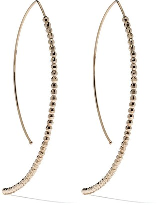 Mizuki 14kt gold medium Marquis earrings
