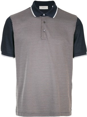 Cerruti Contrast Sleeve Patterned Polo Shirt