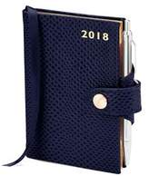 Aspinal of London Mini Pocket Leather Diary with Pen