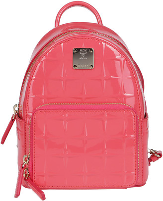 MCM Pink Leather Stark Bebe Boo Backpack