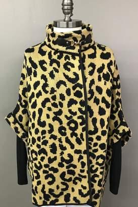 Janice Cheetah Sweater Jacket