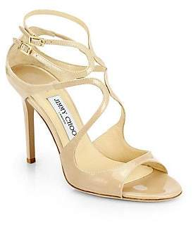Jimmy Choo Women's Lang Strappy Patent Leather Sandals