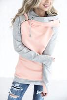 Ampersand Avenue DoubleHoodTM Sweatshirt - Quilted Peach