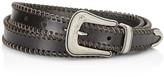 Rebecca Minkoff Whipstitch Edge Leather Belt