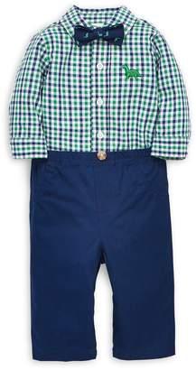 Little Me Baby Boy's 3-Piece Plaid Cotton Bodysuit, Pants Bow Tie Set