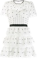 Self-Portrait Self Portrait tiered polka-dot dress