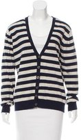 Burberry Wool-Blend Striped Cardigan