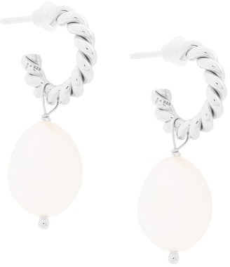 Isabel Lennse XS twisted loops with freshwater pearl
