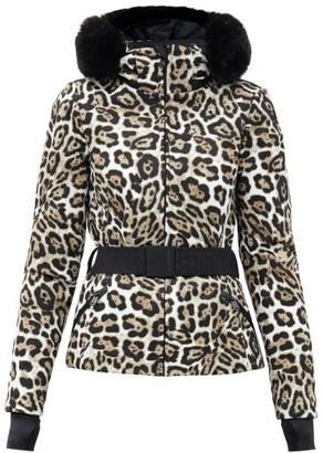 Goldbergh Wild Leopard-print Faux Fur-trimmed Ski Jacket - Leopard