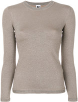 M Missoni metallic knitted top