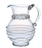 "Juliska Amalia 9.5"" Round Glass Pitcher"