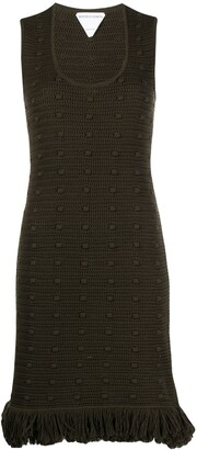 Bottega Veneta Knitted Fringe-Trim Dress