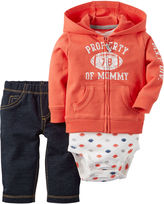 Carter's 3-pc. Football Cardigan and Pants Set - Baby Boys newborn-24m