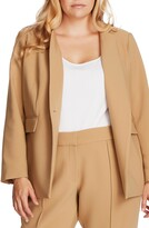 Vince Camuto Convertible Collar Stretch Crepe Blazer