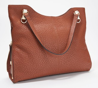 Vince Camuto Solid or Snake Embossed Leather Tote -Emely