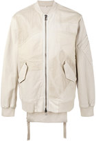 Helmut Lang patchwork bomber jacket - men - Cotton/Spandex/Elastane - S