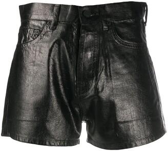 Saint Laurent Faux-Leather Slim Fit Shorts