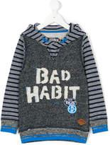 Vingino striped patch-appliquéd hoodie