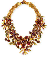 Jose & Maria Barrera Floral Garland Statement Necklace