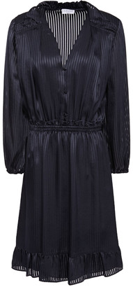 Claudie Pierlot Ruffled Satin-jacquard Mini Dress