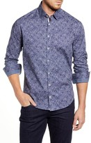 Stone Rose Regular Fit Abstract Floral Button-Up Sport Shirt