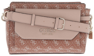 GUESS Esme Zip-Top Crossbody Bag in Cinnamon Brown