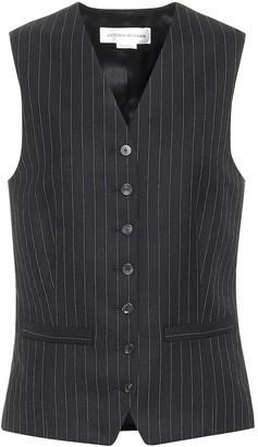 Victoria Beckham Pinstriped wool vest