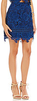 Lovers + Friends Lace Insence Mini Skirt
