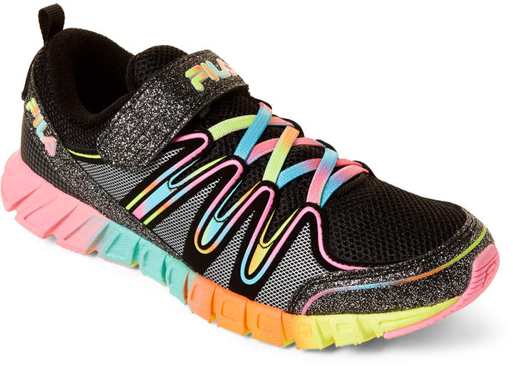 2912e269 Kids Girls) Black & Multicolor Crater 4 Glitter Running Sneakers